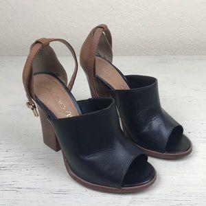 Aldo Black and Tan Mule Heels